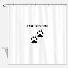 Custom Pawprints Silhouette Shower Curtain