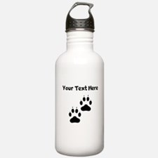 Custom Pawprints Silhouette Water Bottle