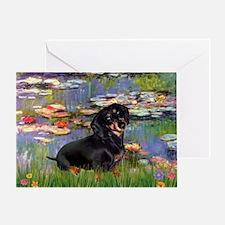 Lilies (2) & Dachshund Greeting Card
