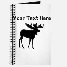 Custom Moose Silhouette Journal