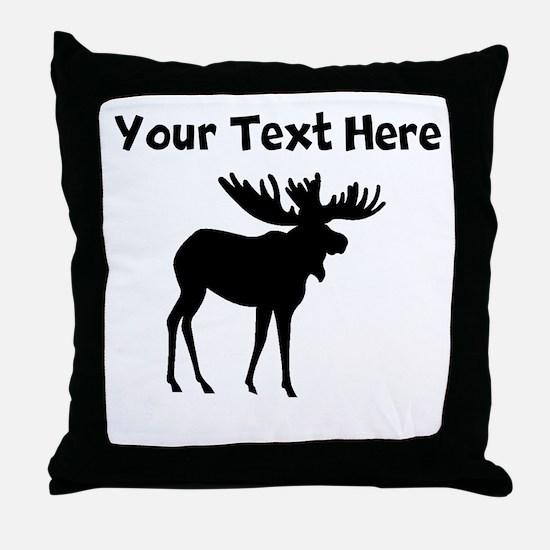 Custom Moose Silhouette Throw Pillow