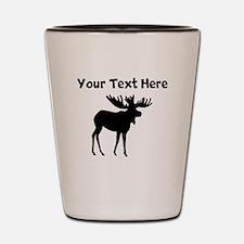 Custom Moose Silhouette Shot Glass