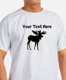 Custom Moose Silhouette T-Shirt