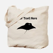 Custom Manta Ray Silhouette Tote Bag