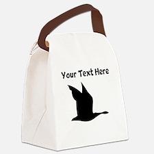 Custom Loon Silhouette Canvas Lunch Bag