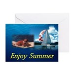 Summer Bulldog Greeting Cards (Pk of 10)