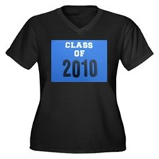 class of 2010 Women's Plus Size V-Neck Dark T-Shir