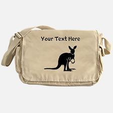 Custom Kangaroo Silhouette Messenger Bag