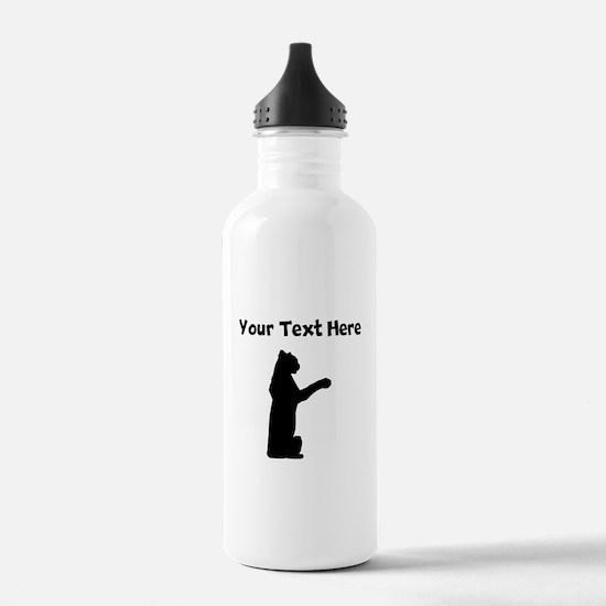 Custom Jaguar Silhouette Water Bottle