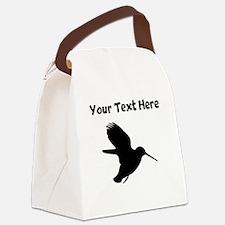 Custom Hummingbird Silhouette Canvas Lunch Bag