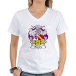 Bada Family Crest Women's V-Neck T-Shirt