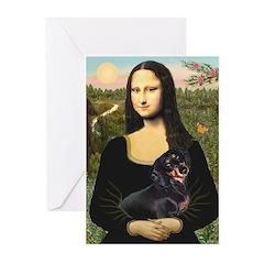 Mona Lisa/Dachshund (BT4 Greeting Cards (Pk of 20)