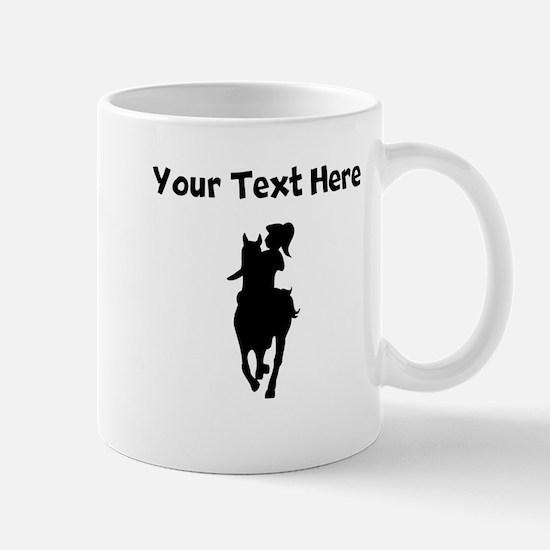Custom Horse And Rider Silhouette Mugs