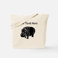 Custom Hippopotamus Silhouette Tote Bag