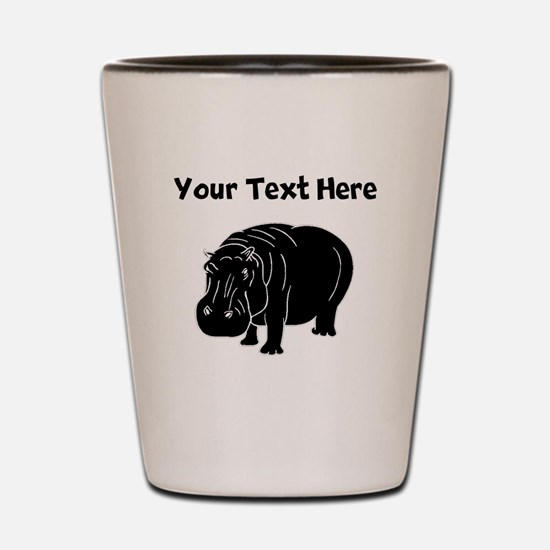 Custom Hippopotamus Silhouette Shot Glass