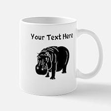 Custom Hippopotamus Silhouette Mugs