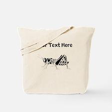 Custom Grasshopper Silhouette Tote Bag