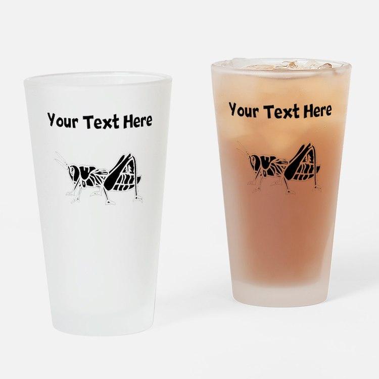 Custom Grasshopper Silhouette Drinking Glass