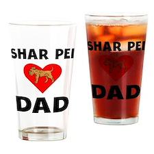 Shar Pei Dad Drinking Glass