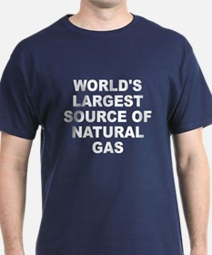 World's Largest Natural Gas Source T-Shirt