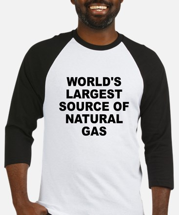 World's Largest Natural Gas Source Baseball Jersey