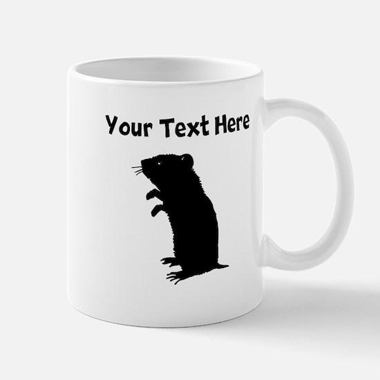 Custom Gerbil Silhouette Mugs