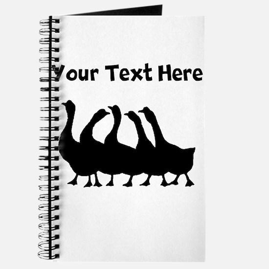 Custom Geese Silhouette Journal