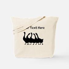 Custom Geese Silhouette Tote Bag