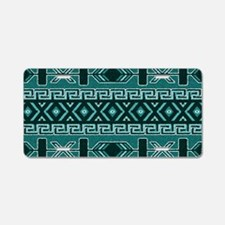 Turquoise Aztec Pattern Aluminum License Plate
