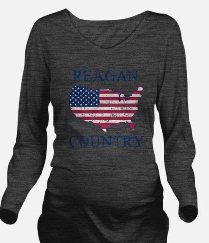 Retro Reagan Country Long Sleeve Maternity T-Shirt