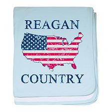 Retro Reagan Country baby blanket