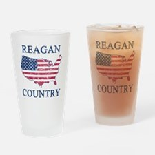 Retro Reagan Country Drinking Glass