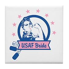 Rosie USAF Bride Tile Coaster