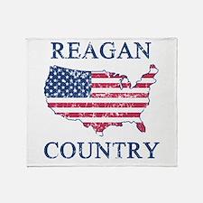 Retro Reagan Country Throw Blanket