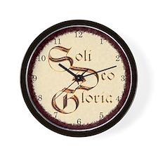 """Soli Deo Gloria"" Wall Clock"