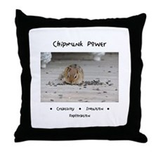 Chipmunk Animal Medicine Throw Pillow