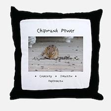 Chipmunk Animal Medicine Throw Pillow