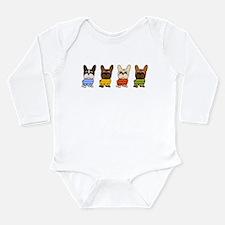 Funny Bulldogs Long Sleeve Infant Bodysuit