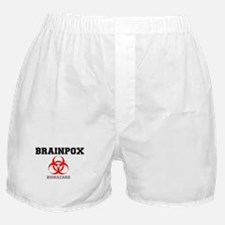 BRAINPOX BIOHAZARD, FICTIONAL VIRUS Boxer Shorts