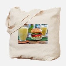 Gourmet Burger and Smoothies Tote Bag