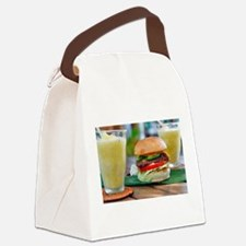 Gourmet Burger and Smoothies Canvas Lunch Bag