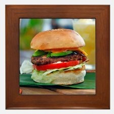 Gourmet Burger and Smoothies Framed Tile