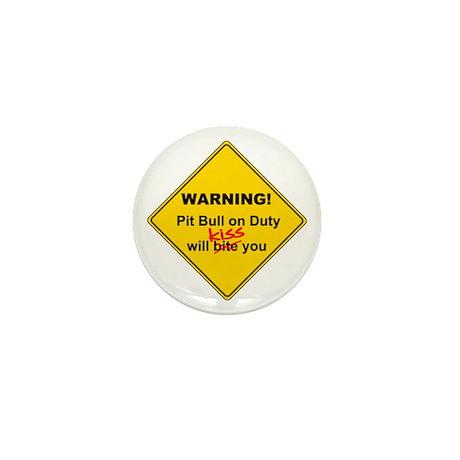 Pit Bull will KISS! Mini Button (10 pack)