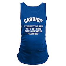 Cardio? Maternity Tank Top
