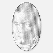 Beethoven Portrait Sticker (Oval)