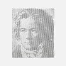 Beethoven Portrait Throw Blanket