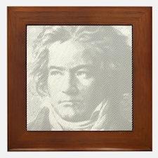 Beethoven Portrait Framed Tile
