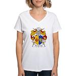 Azcarate Family Crest Women's V-Neck T-Shirt