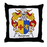 Azcarate Family Crest Throw Pillow