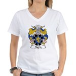 Ayora Family Crest  Women's V-Neck T-Shirt